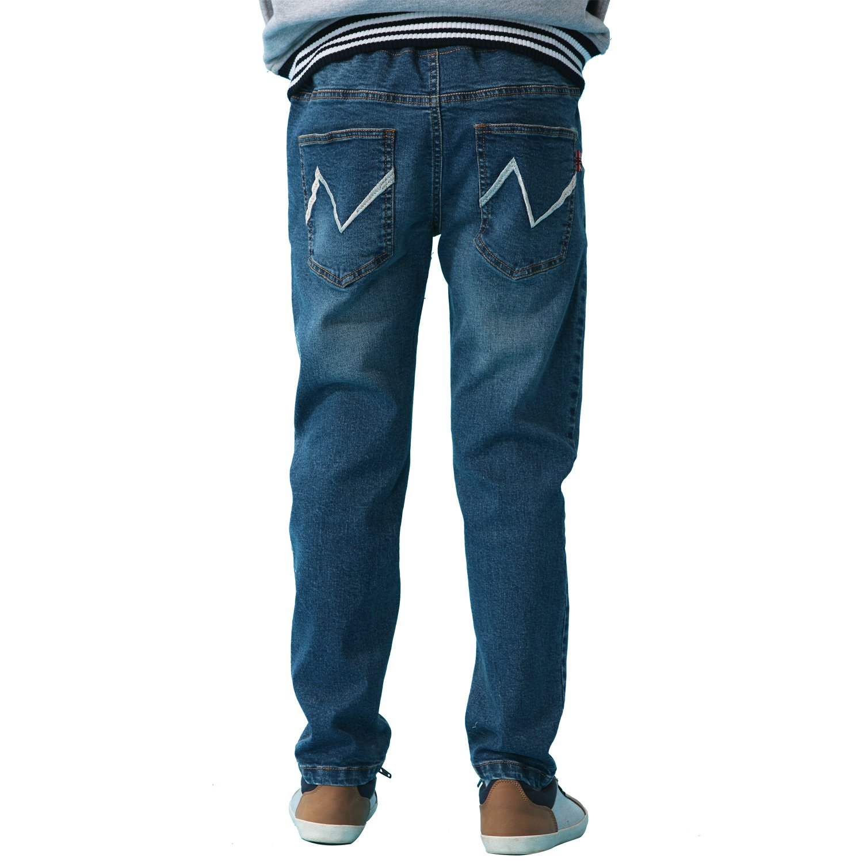 Leo&Lily Boys' Kids' Husky Rib Waist Stretch Denim Jeans Pants (10) by Leo&Lily (Image #3)
