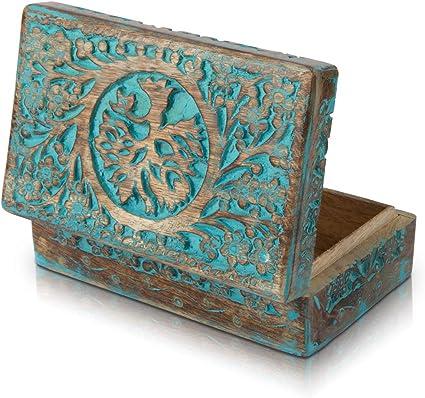 Excellent Cadeau D Anniversaire En Bois Fait A La Main Boite A Bijoux Decorative En Forme