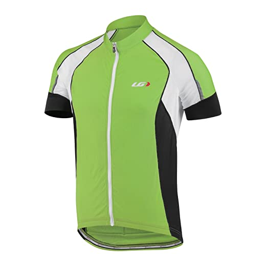 Louis Garneau Men s Lemmon Vent Short-Sleeve Jersey - Small - Fluo Green 76acb60ea
