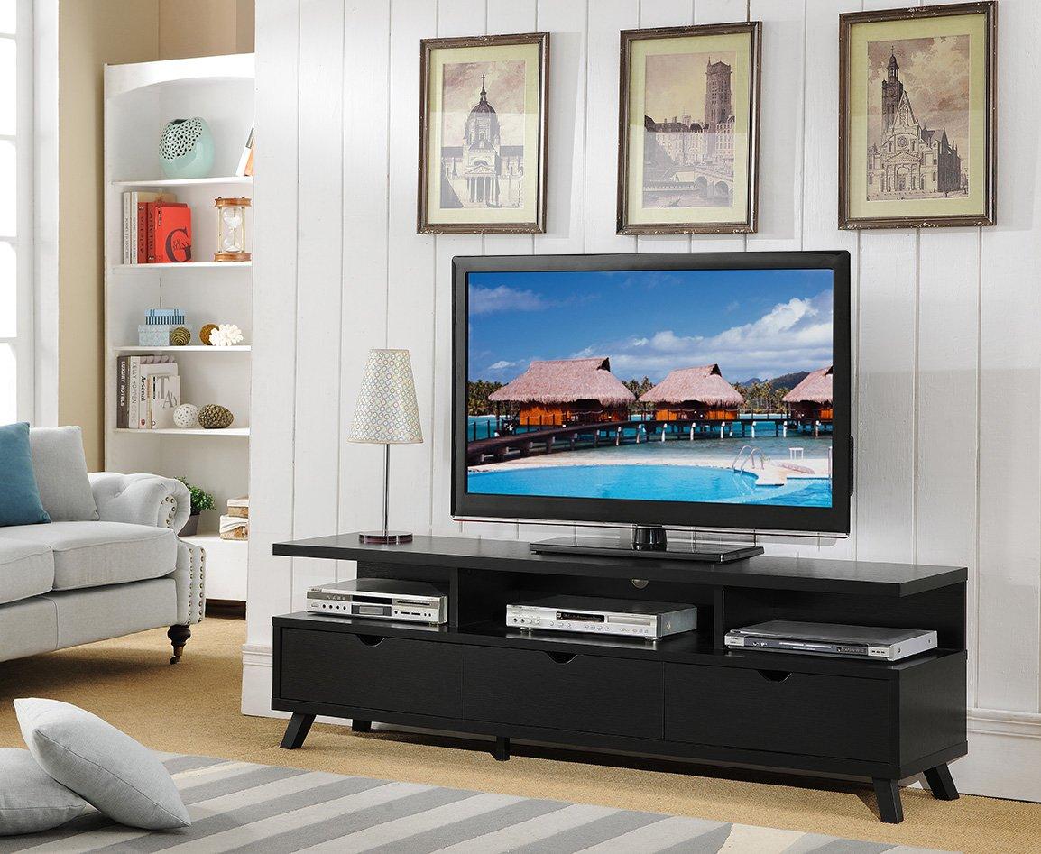 Amazon Com Smart Home 151280 75 Inch Tv Stand Media Edition Black