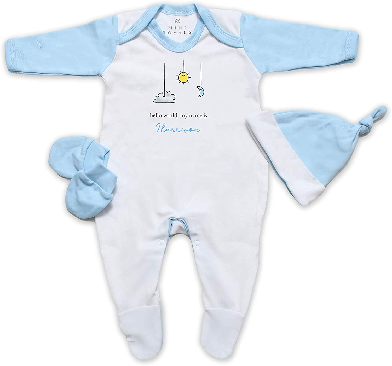 Personalise Hello World Baby Boy