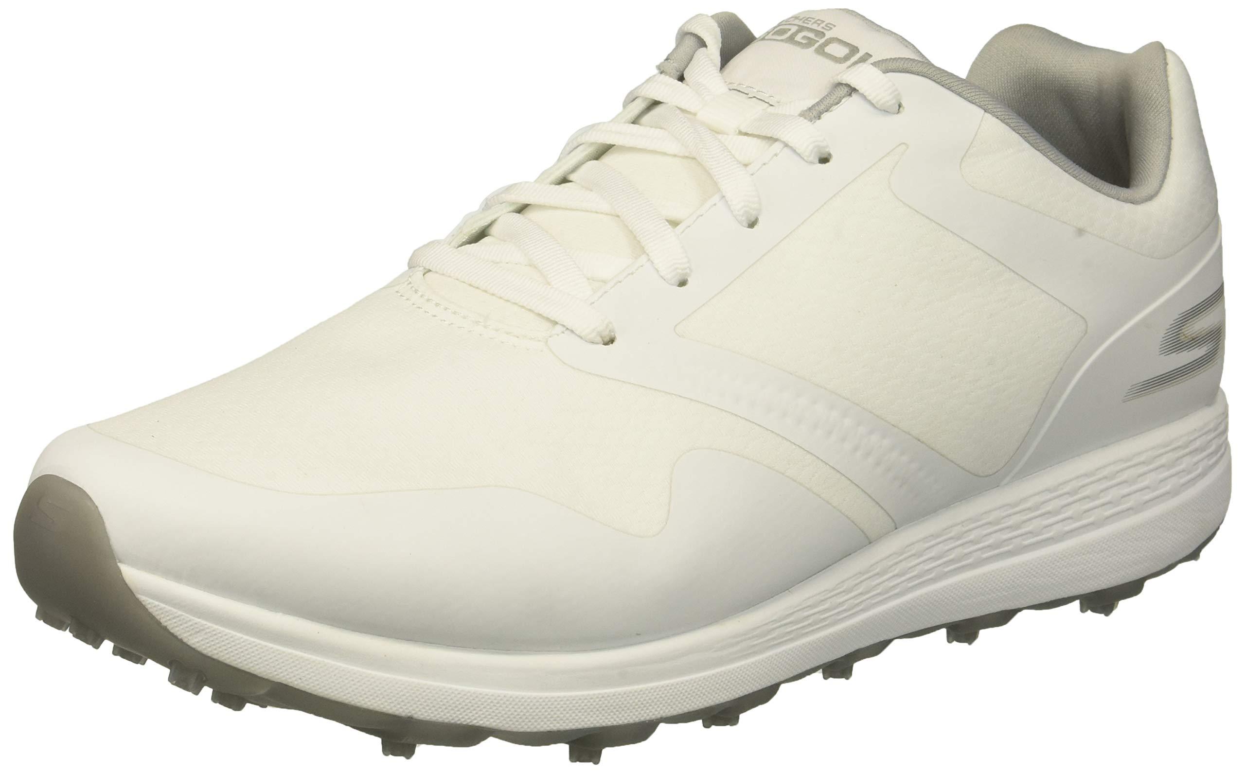Skechers Women's Max Golf Shoe, White/Gray, 5.5 M US