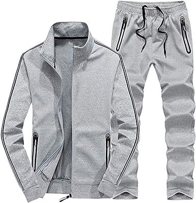 Meaningg más el tamaño L ~ 7XL 8XL Chaqueta de Invierno de los Hombres Outwear algodón Sudadera Chándal Ropa Deportiva de Hombre Jogger Conjunto Masculino Chaqueta + pantalón: Amazon.es: Ropa y accesorios
