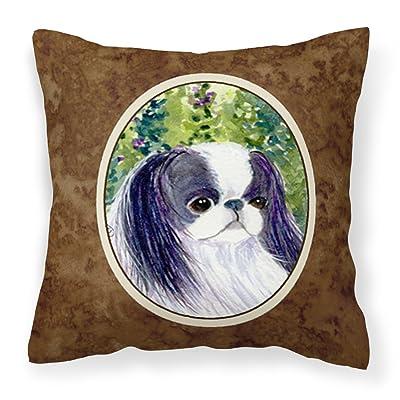 Caroline's Treasures SS8730PW1414 Japanese Chin Decorative Canvas Fabric Pillow, 14Hx14W, Multicolor : Garden & Outdoor