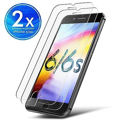 d69ba3e2945 UTECTION 2X Protector de Pantalla para Apple iPhone 6s / 6 - Vidrio Templado  9H Crystal