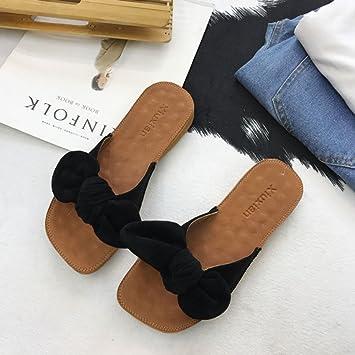 XING GUANG Sommer Koreanische Version des Bogens Bequeme Strand Schuhe Sehnen Weichen Boden Flache Schuhe mit...