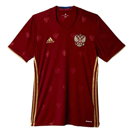 Amazon.com   adidas Men s Soccer Russia Home Jersey   Sports   Outdoors 862a9f7c8