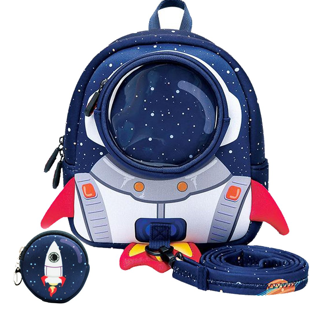 Rocket Toddler Backpack with Leash,3-9 Years Anti-lost Kids Backpack,Children Backpack for boys girls
