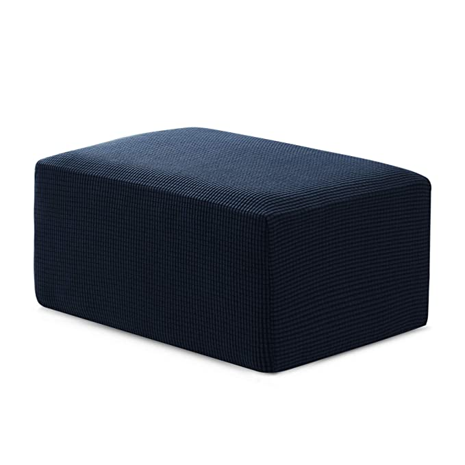Amazon.com: Hokway Storage Ottoman Slipcovers Stretch Ottoman Foot Rest Sofa Slipcovers Footstool Protector Covers(Dark Blue, Oversize): Home & Kitchen