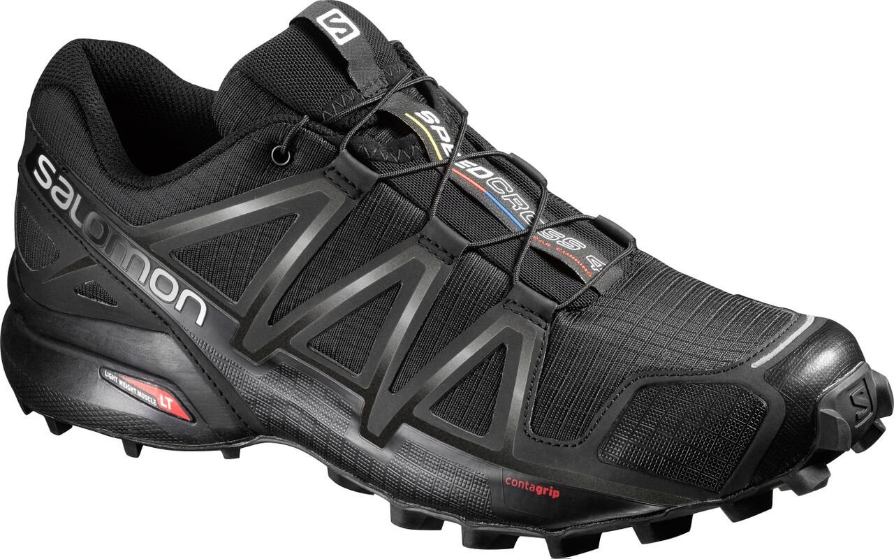Salomon Men's Speedcross 4 Trail Runner, Black A1U8, 11 M US by Salomon