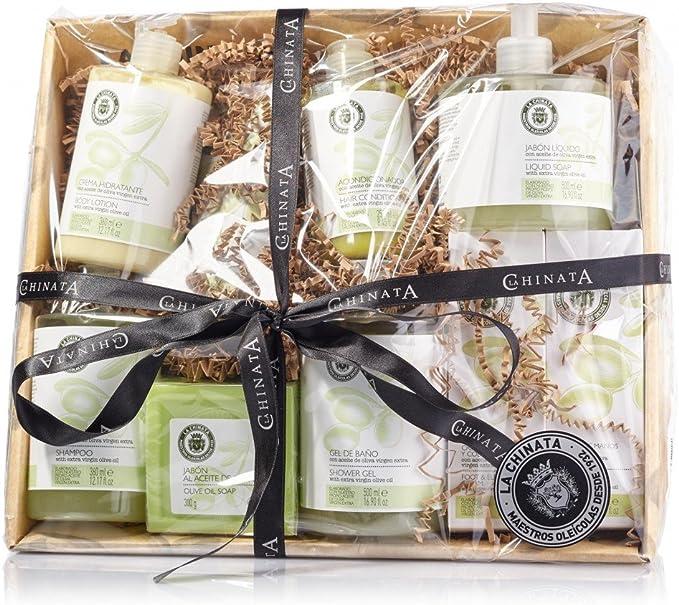 Cesta Mediana Cosmética para regalo marca La Chinata cosméticos elaborados con aceite de oliva virgen extra: Amazon.es: Alimentación y bebidas