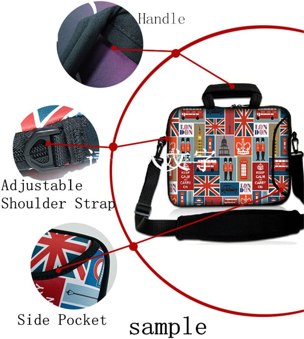 Fashion Ultra-Light Waterproof Anti-Shock Neoprene Unique Style 11.6 12 inch Netbook//Ultrabook//MacBook Air//Laptop//Computer Briefcase Pouch Sleeve Bag Carrying Case Cover Tote Handle Bags(Paris)