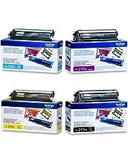 Brother TN-210 (Brother TN210 BK/C/M/Y) OEM Toner Cartridge Combo Set for Brother DCP-9010CN/HL-3040CN/HL-3045CN/HL-3070CW