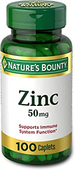 100-Count Nature's Bounty Zinc 50 mg Caplets