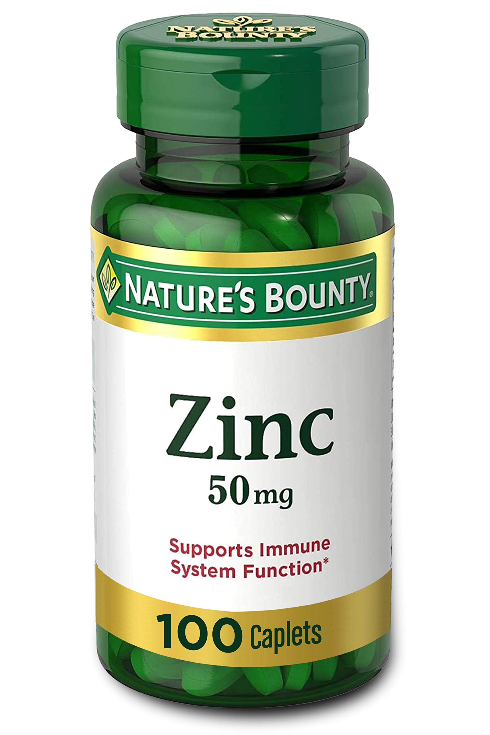 Nature's Bounty Zinc 50 mg Caplets 100 ct