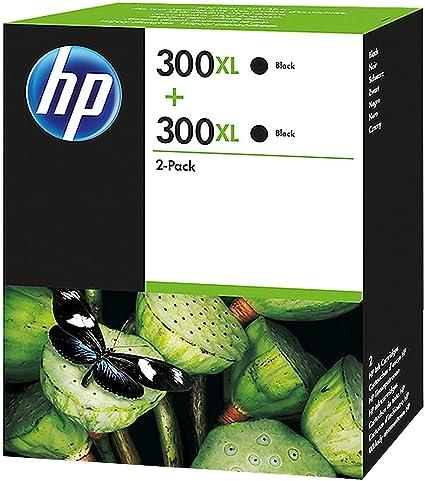HP D8J43AE 300XL Cartucho de Tinta Original de alto rendimiento, 2 ...