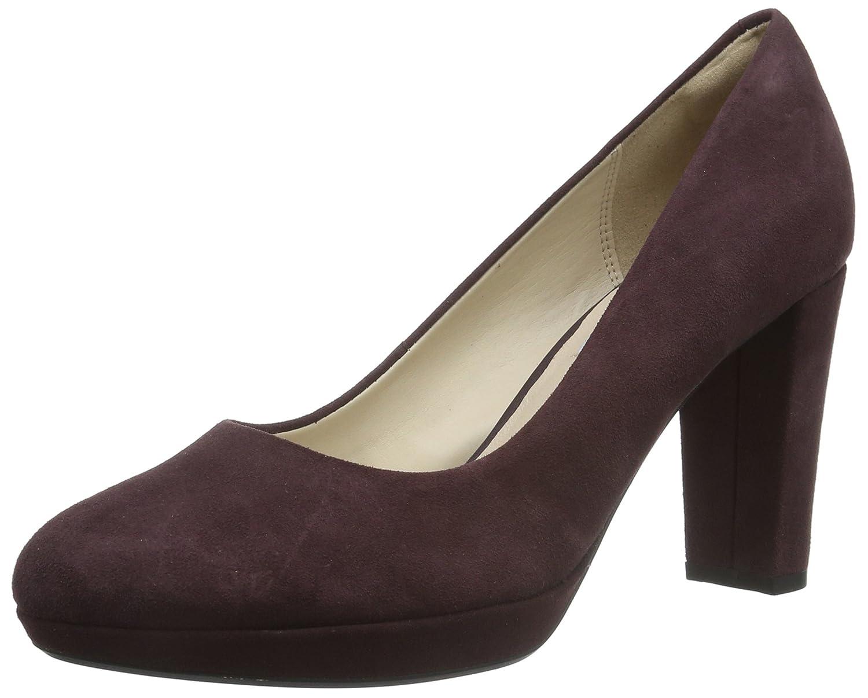 Clarks Kendra Sienna, Zapatos de Tacón para Mujer 42 EU|Morado (Aubergine Suede)