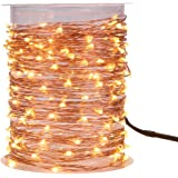 MAGICNIGHT 150 Leds 50FT Led String Starry Light Copper Wire Decorative Fairy Lights Warm White 15M With Remote Controller Set of 1