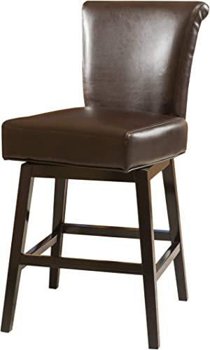 Christopher Knight Home Tracy Swivel Counterstool, Brown