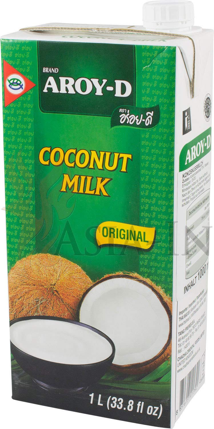 100% Coconut Milk - 33.8 oz packages (1-pack) by Aroy-D (Image #1)