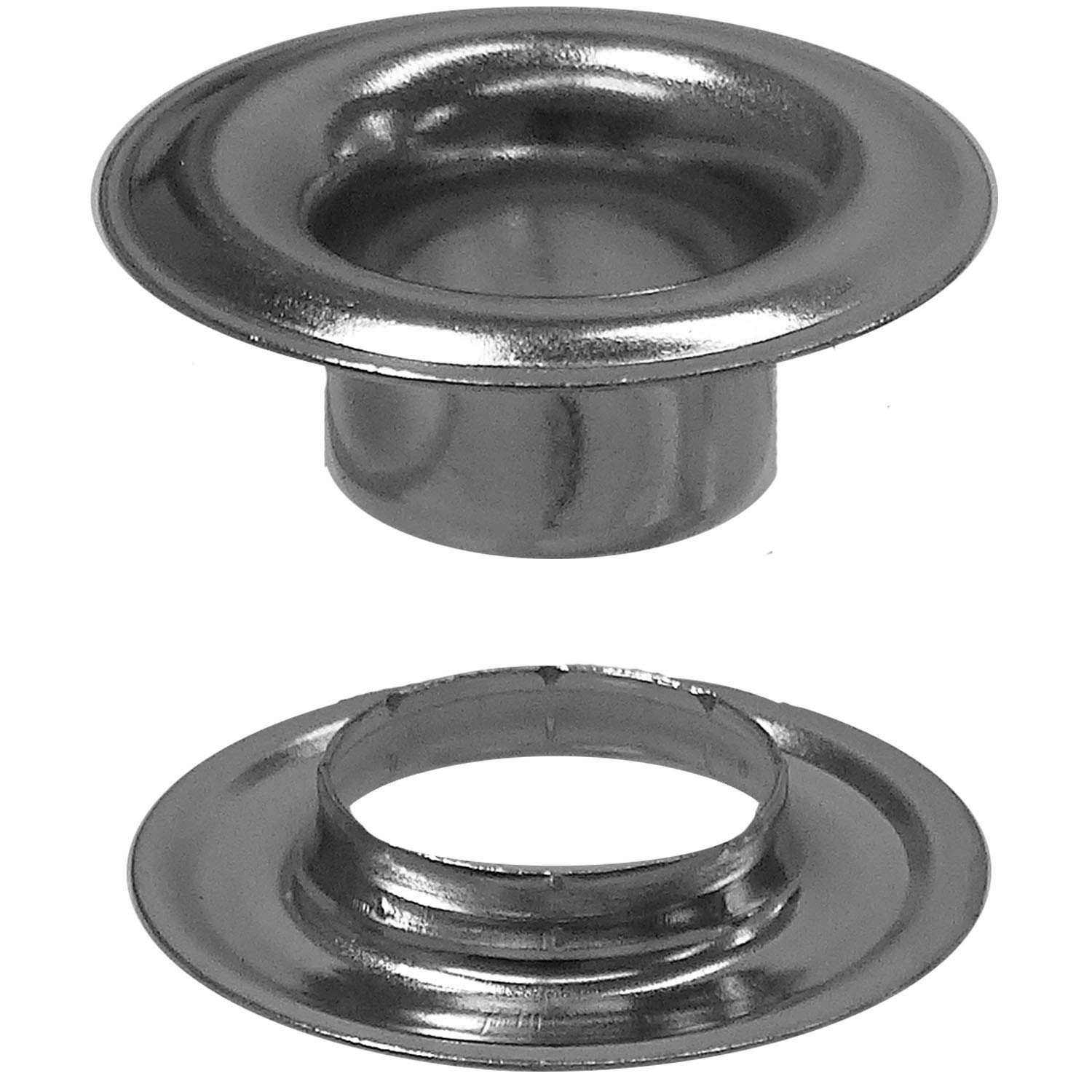 Stimpson Sheet Metal Grommet and Neck Washer Nickel-Plated Durable, Reliable, Heavy-Duty #4 Set (1,440 Pieces of Each)
