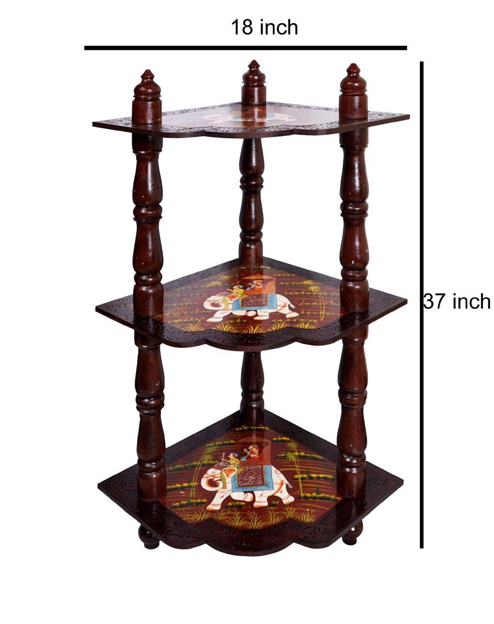 Rack étagère de rangement d'angle en bois pour chambre à coucher