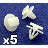 Auto Trim Clips 122920 Exterior Wheel Arch Wing and Fender Trim Clips 5 Pieces