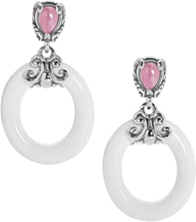 product image for Carolyn Pollack Sterling Silver & Multi Gemstone Dangle Earrings - Choice of Gemstone Combinations