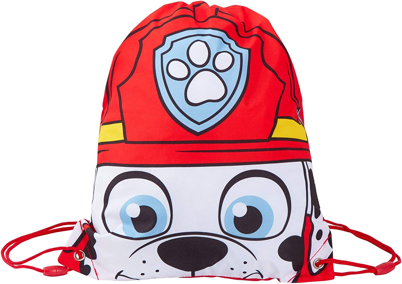 Novelty Paw Patrol Drawstring Backpack Gym Bag