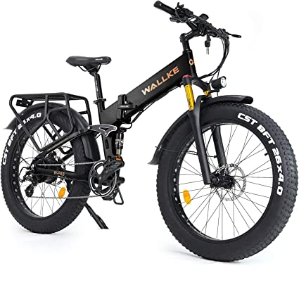 Wallke X3 Pro Foldable Electric Bicycle 26-inch Fat Tire 48V 14aH Removable Sumsung Battery 750W Brushless Motor Snow Mountain E-Bike