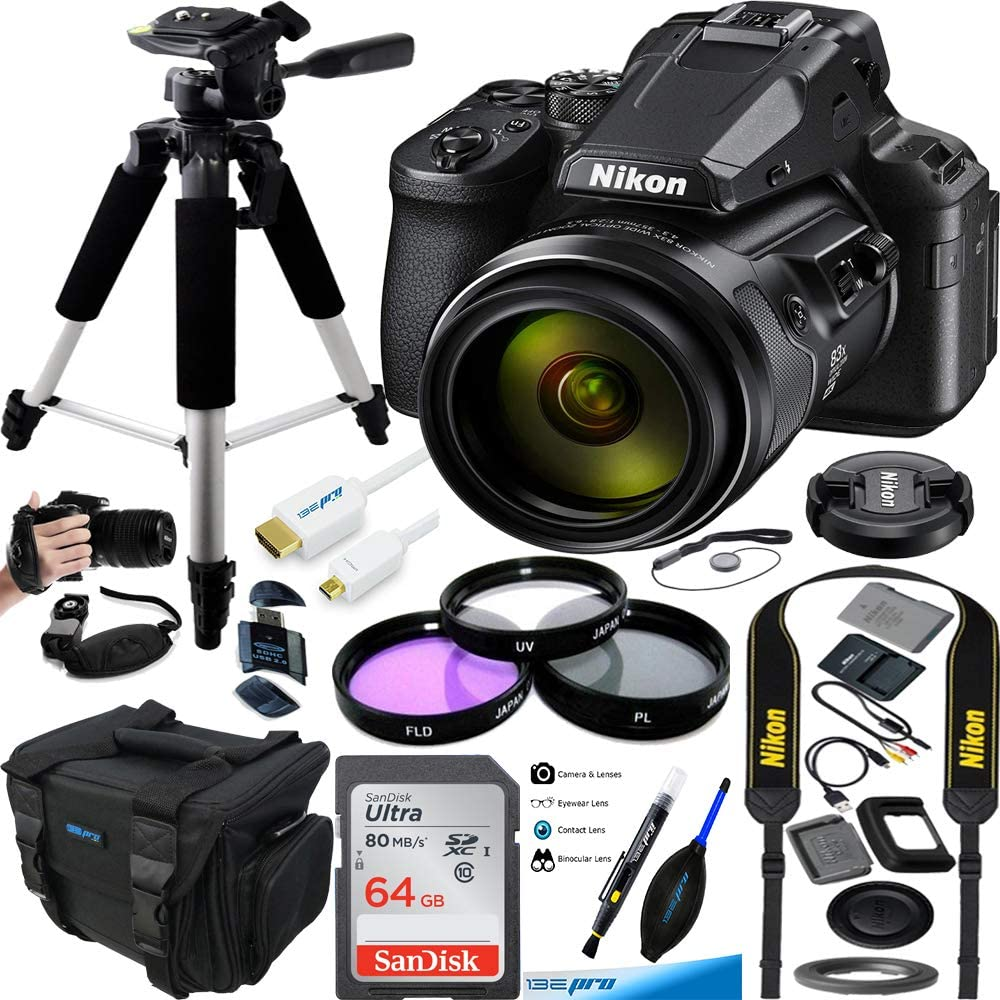 COOLPIX P950 Compact Digital Camera with 83x Optical Zoom Super Telephoto Lens + Expo Premium Accessories Bundle
