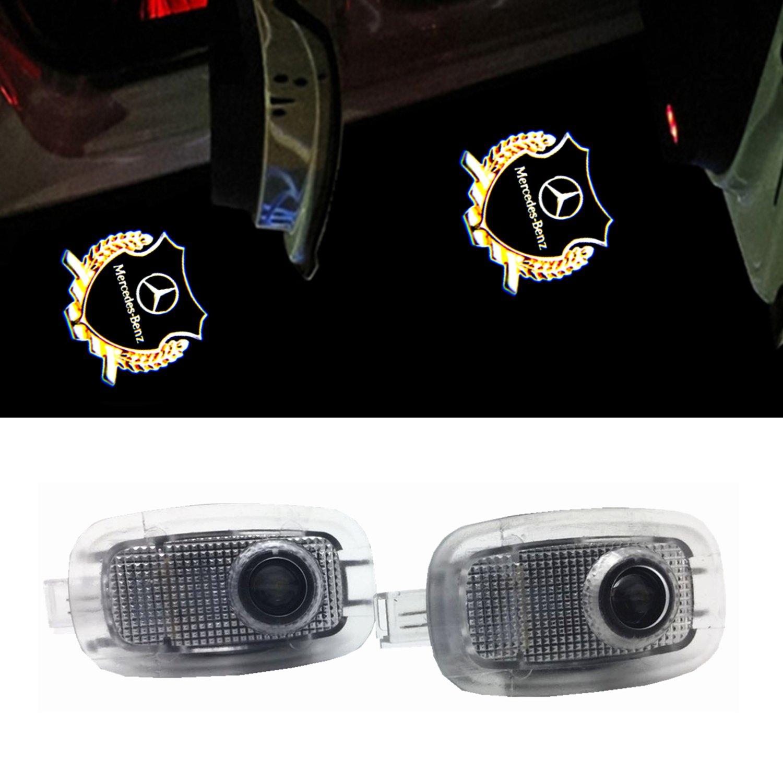 ZTMYZFSL 2Pcs Car Logo Projection LED Projector Porta Ghost Shadow Light Lampada per la luce di benvenuto