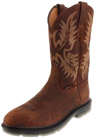 4f52d03e357 Ariat Men's Maverick II Pull-on Steel Toe Work Boot, Alamo Brown, 10 ...