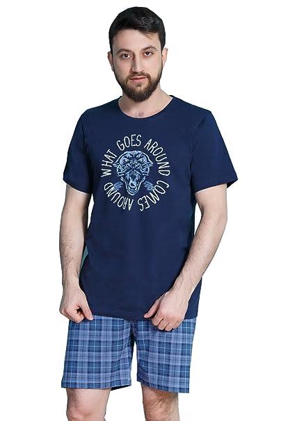 Vienetta Secret - Pijama - para hombre azul X-Large