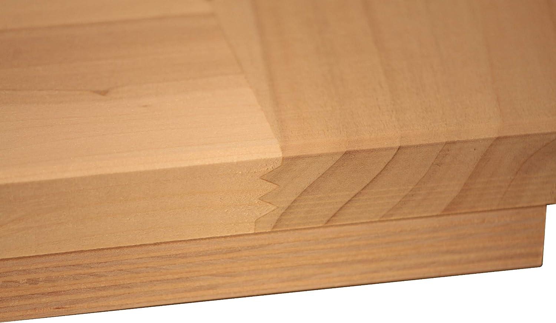 Tabla de amasar en madera de tilo 120x60x2: Amazon.es: Hogar
