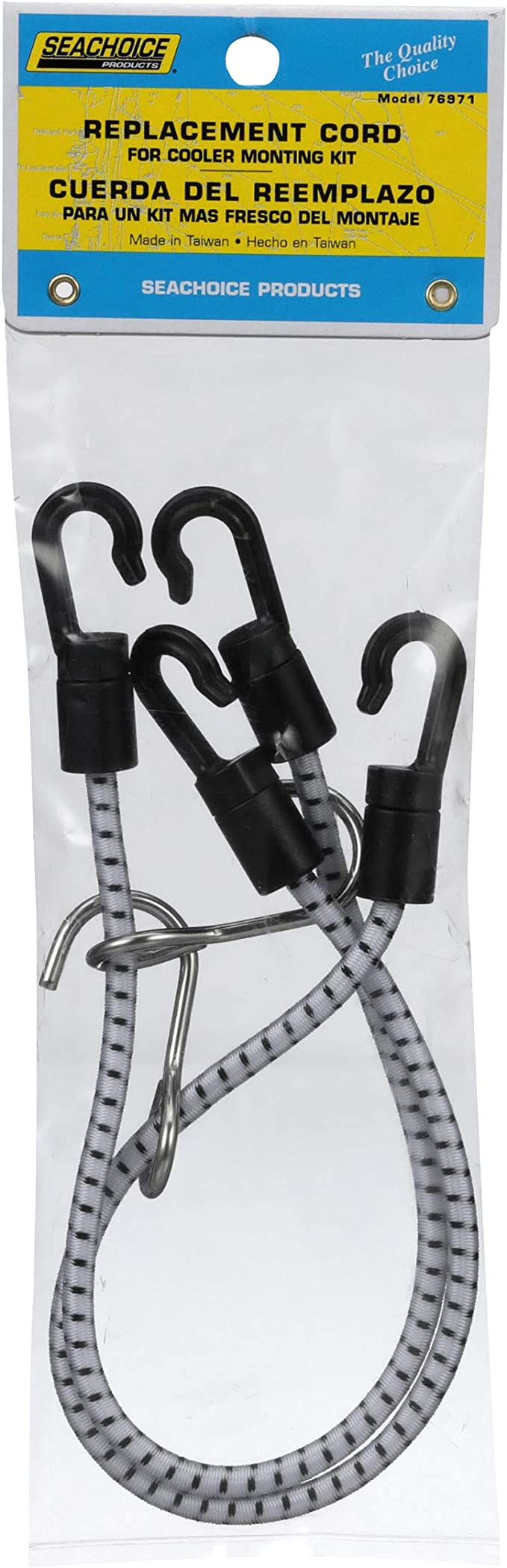 SeaChoice Pair Cooler Mounting Kit Tie Downs Bungee Straps Igloo Coleman 76971