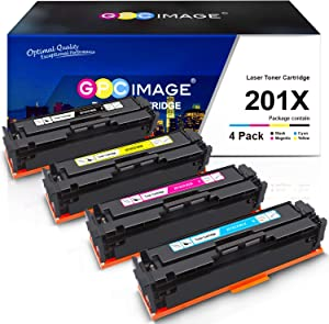GPC Image Compatible Toner Cartridge Replacement for HP 201X 201A CF400X CF401X CF402X CF403X CF400A Toner to use with Color Laserjet Pro MFP M277dw M252dw M277n M252n MFP M277c6 Printer (4-Pack)