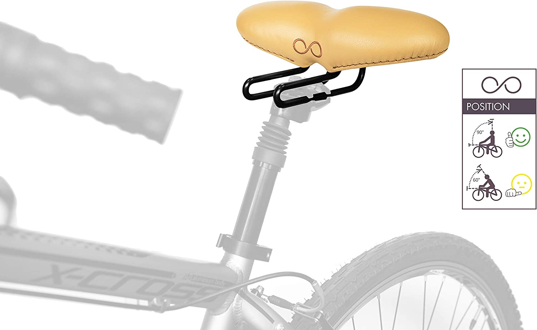 sellOttO Felice – Nueva Silla Confort Line Gel Suave Ortopédica Hombre Mujer, Ninguna presión Zona genital - Ideal para Bici Urbana, E-Bike, Plegable: Amazon.es: Deportes y aire libre