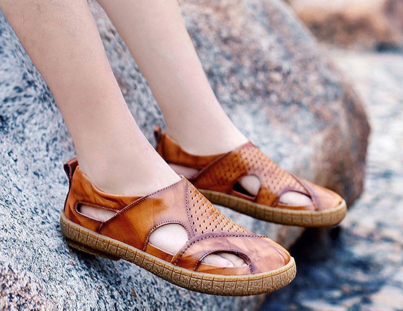 Sommer Mode Breathable Sandalen Komfortable Wilde Freizeitschuhe Breathable Mode Herrenschuhe ROTBraun 2993cd