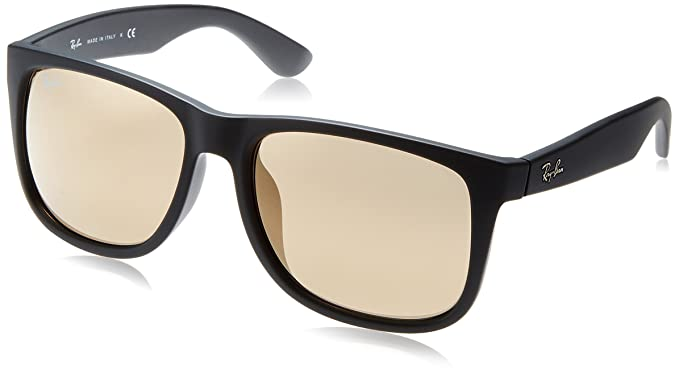 a9d3f98a54e Ray-Ban Men s Justin Non-Polarized Iridium Rectangular Sunglasses