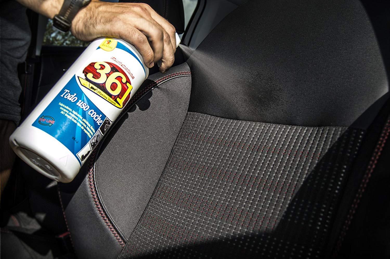 Sisbrill 361 Todo Uso Coche - Limpiador Interior y Exterior del Vehículo - Tapicería, Salpicadero, Cuero, Mosquitos - 750 ml