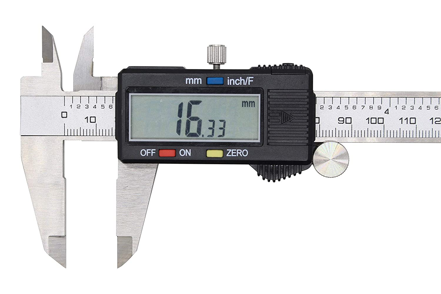 Large LCD Screen Electronic Digital Caliper 0-6 Inches//0-150 mm Measuring Range Inch//Metric//Fraction Conversion Measuring Tool for DIY and Professional WONDERSUNM