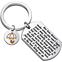 FEELMEM TV Show How I Met You Mother Inspired Jewelry Ted Mosby Love Quote Keychain Love is The Best Thing We Do Yellow…