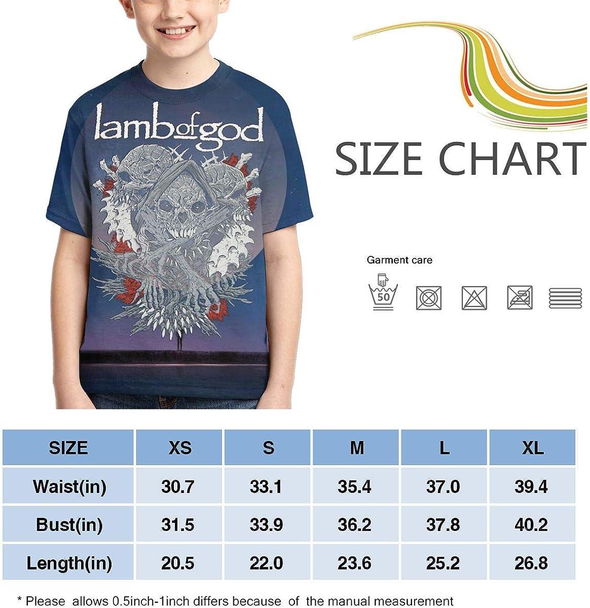 Caiyuzhuanmai Boys,Girls,Youth Lamb God Tee Shirt