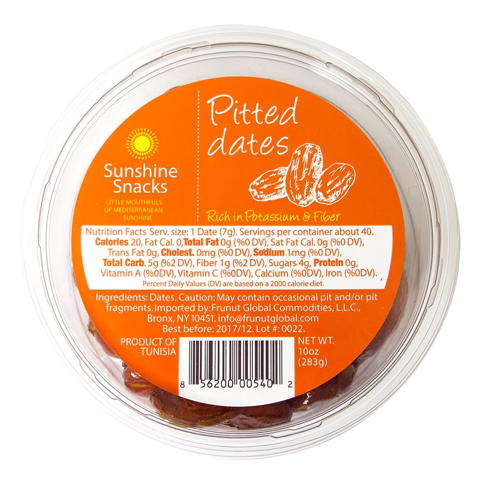 Sunshine Snacks Pitted Date 28 oz Tray (1.75 lb)