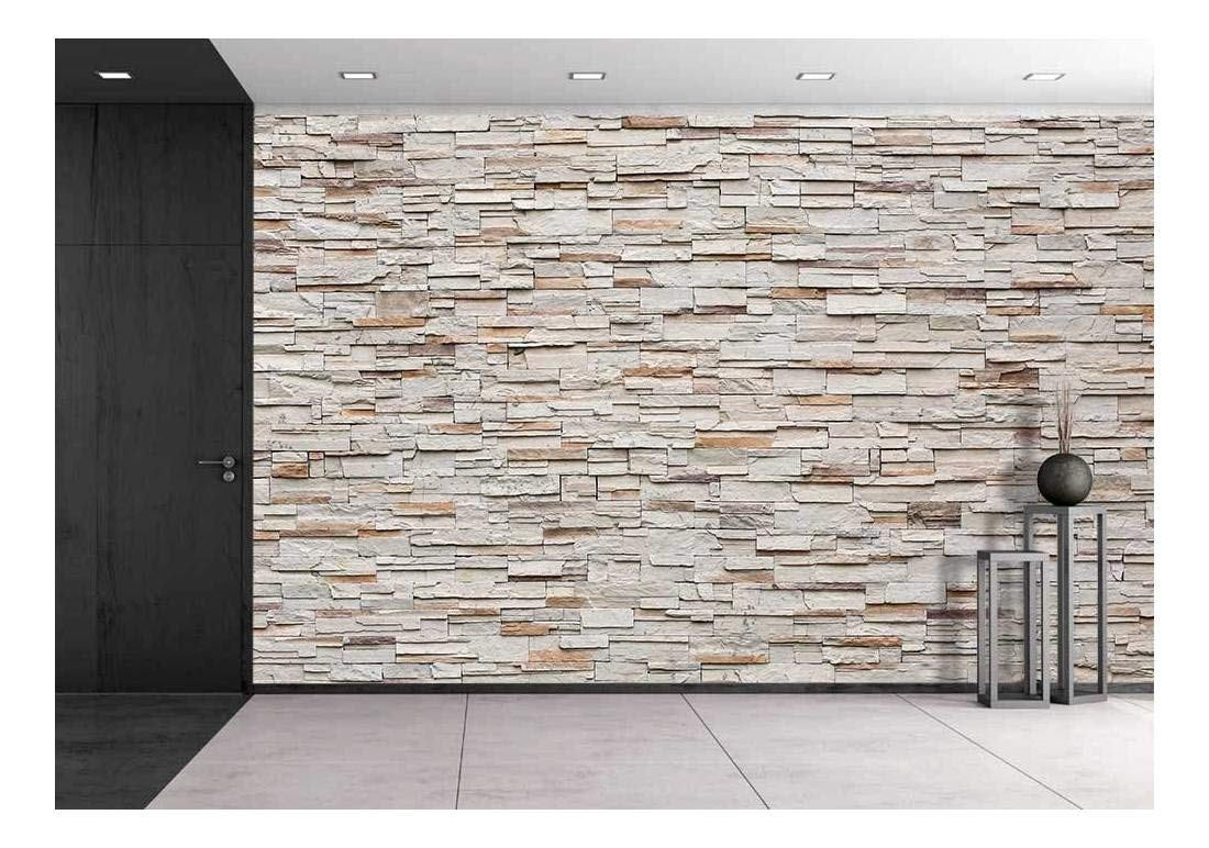 ordinary Decorative Stone Wall Part - 18: Amazon.com: wall26 Pattern of Decorative Stone Wall Background - Removable  Wall Mural | Self-Adhesive Large Wallpaper - 100x144 inches: Posters u0026  Prints
