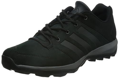 adidas Daroga Plus Lea, Zapatillas de Senderismo para Hombre, Negro Granit/Negbas,