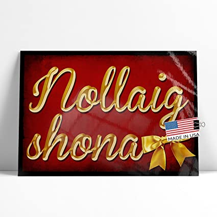 neonblond large poster merry christmas in irish gaelic from ireland printed in atlanta by - Merry Christmas In Gaelic