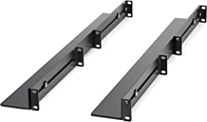 StarTech.com 1U 19 inch Server Rack Rails - 24-36 inch Adjustable Depth - Universal 4 Post Rack Mount Rails - Network Equipment/Server/UPS Mounting Rail Kit HPE ProLiant Dell PowerEdge (UNIRAILS1UB)