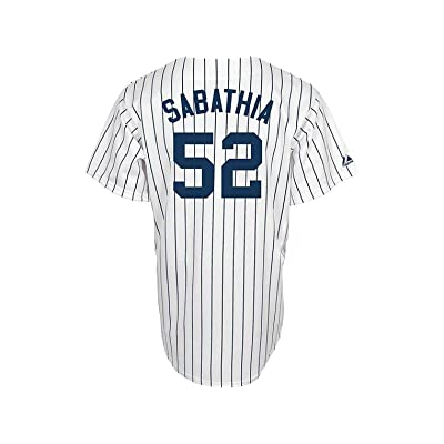 86694fc944b OuterStuff CC Sabathia New York Yankees White Youth Authentic Home Replica  Jersey